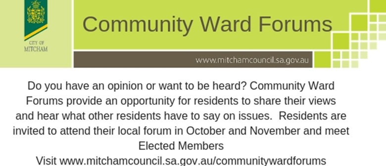 Community Forum for Craigburn and The Park Wards