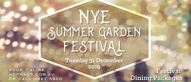 New Year's Eve Summer Garden Festival