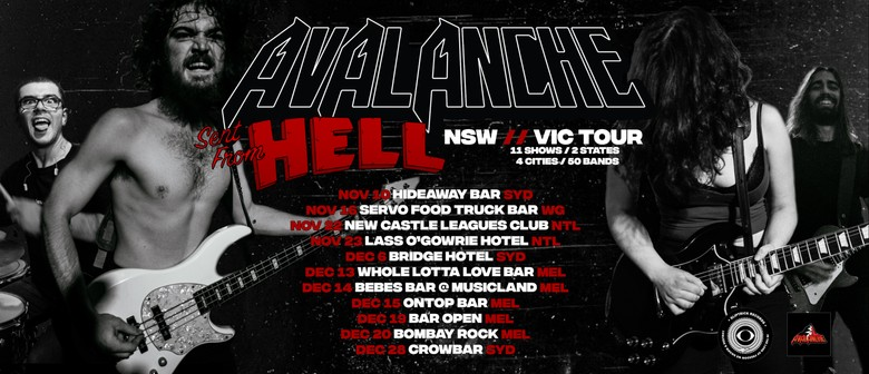 Avalanche – Sent From Hell Tour