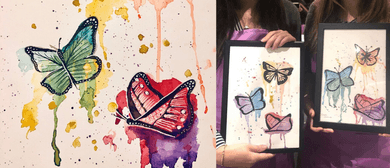 Watercolour Butterflies – Paint and Pancake