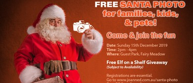 Santa Photo for Families, Kids and Pet