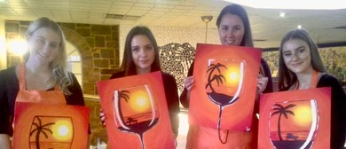 Paint In the Park – Outdoor Painting – A Glass of Sunshine