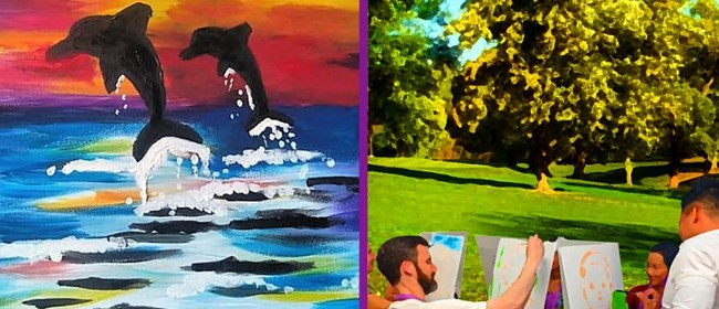 Image for Paint In the Park – Outdoor Painting Class – Dolphins