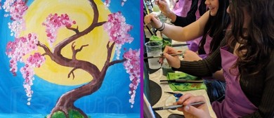Paint In the Park – Outdoor Painting Class – Moon & Tree