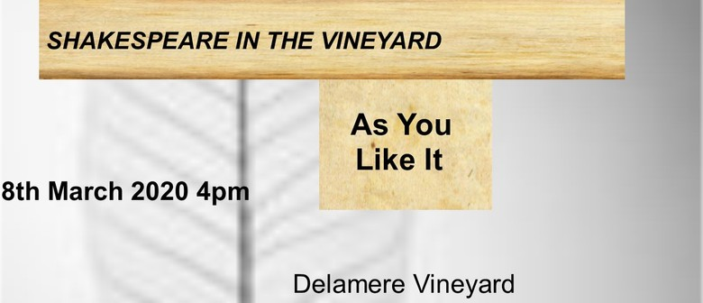 As You Like It - Shakespeare in the Vineyard
