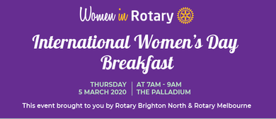 Rotary International Women's Day Breakfast