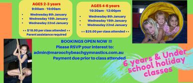 Gymnastics – Children's January Holiday Programs