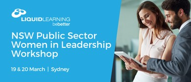 NSW Public Sector Women in Leadership Workshop