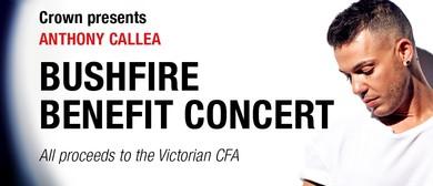 Anthony Callea Bushfire Benefit Concert