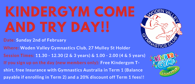 Kindergym Come and Try Day