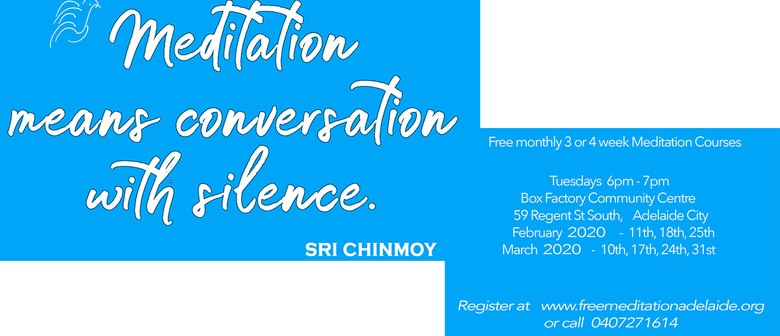 Meditation 3-Week Course – Adelaide Sri Chinmoy Centre