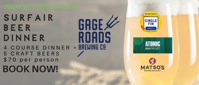 Surfair Beer Dinner w Gage Roads Brewing Co