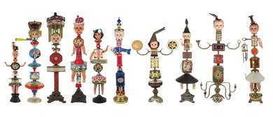 Kitty Calvert Vintage Doll Assemblage Sculpture Exhibition
