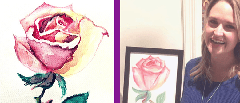 Painting a Watercolour Rose – BYO