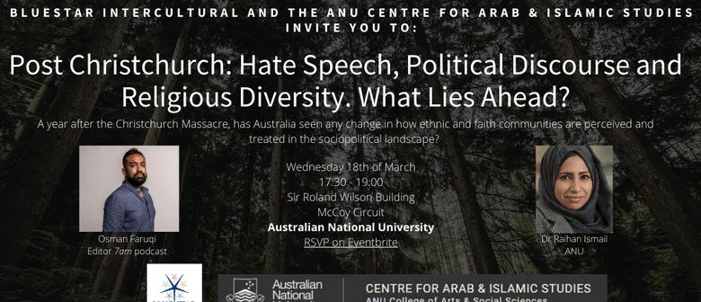 Post Christchurch: Hate speech & Political Discourse