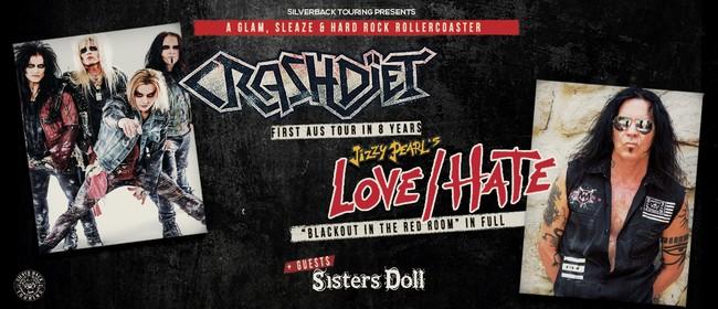 Image for Crash Diet & Jizzy Pearl's Love/Hate Australian Tour