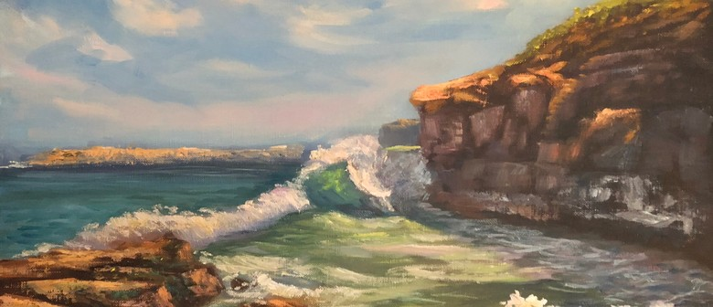 Oil Painting Class – Painting Waves