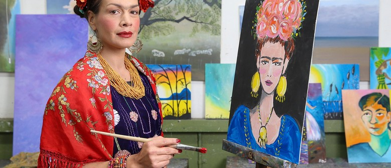 Paint Frida - Paint & Wine Online Class - Fun At Home