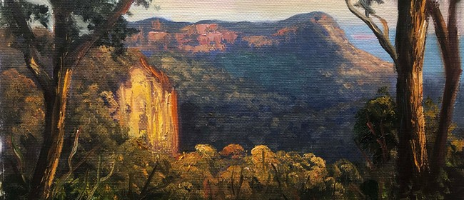 Image for Painting the light on Mt Banks, Blue Mountains in oils