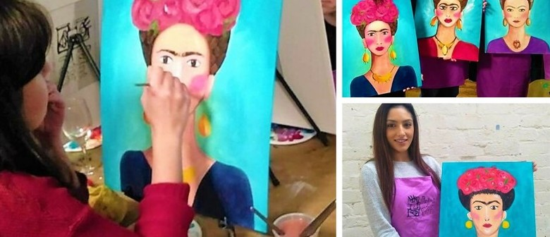 Paint Frida Kahlo - Online Wine & Paint Session