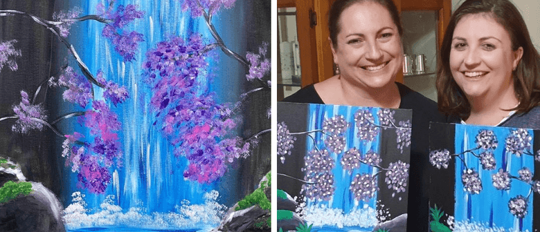 Paint a Waterfall with Acrylics - Online Class Live
