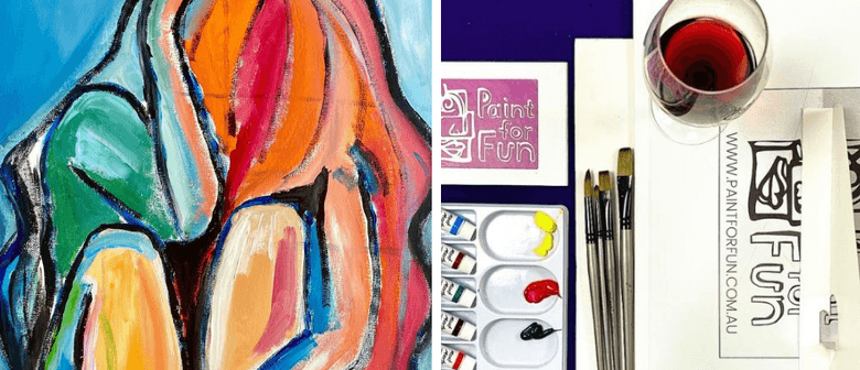 Paint an Abstract Woman - Sip & Paint Class (Live Streaming)