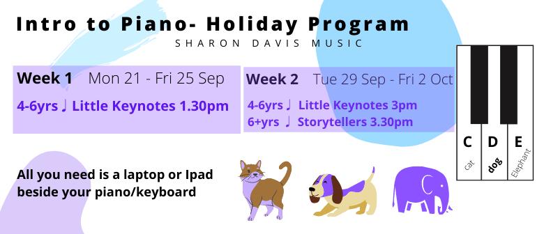 Intro to Piano Holiday Program 6+ years