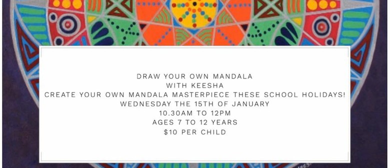 Paint Your Own Mandala School Holiday Workshop - ages 7 to 1
