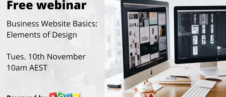 Educational webinar: Elements of Website Design