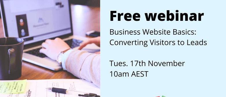 Educational webinar: Converting Visitors To Leads