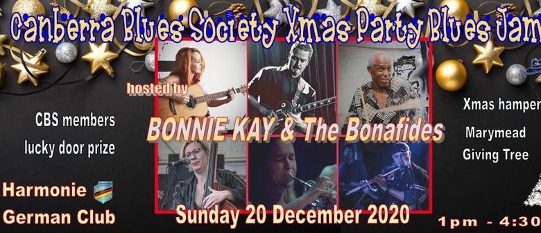Bonnie Kay & The Bonafides host CBS Xmas Party Blues Jam