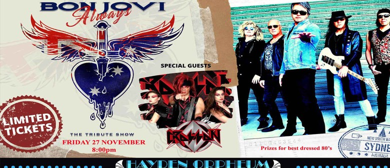 Always Bon Jovi tribute + Special Guests Crosson