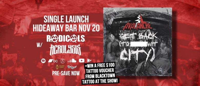 Avalanche - Get Back (To F/Wit City)  Single Launch w/ Radic