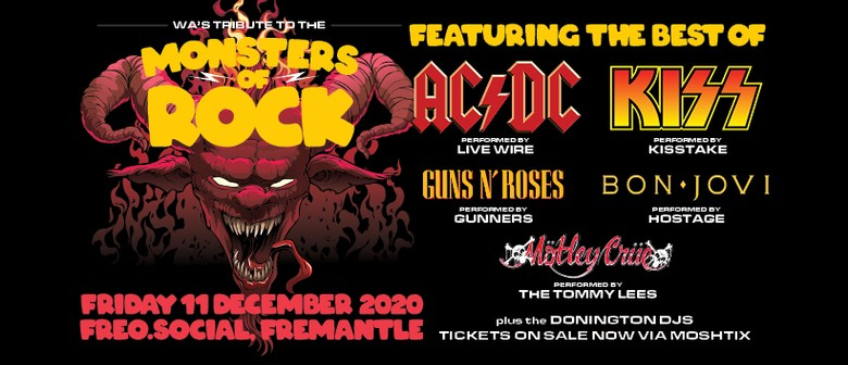 Monsters of Rock  WA's Tribute Salute: SOLD OUT