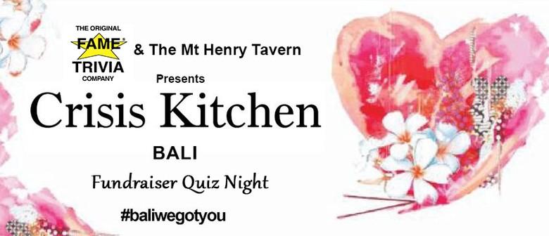 Crisis Kitchen Bali Fundraiser Quiz Night (Fame Trivia)
