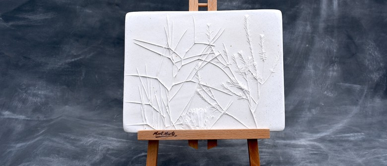 Pressed Plants Plaster Tile, Create and Sip Class