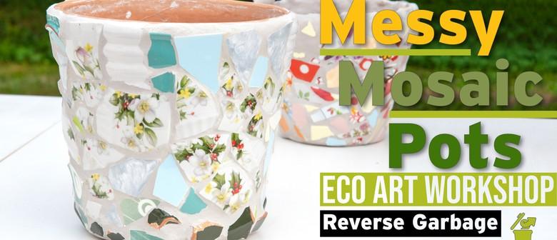 Messy Mosaic Pots