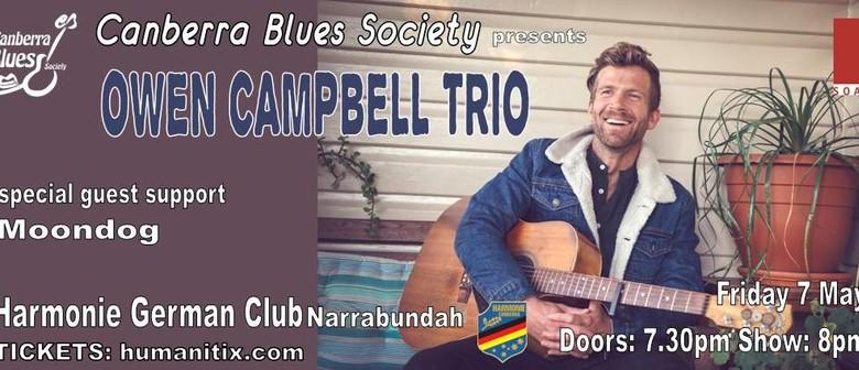 Owen Campbell Trio & Guest Support Moondog