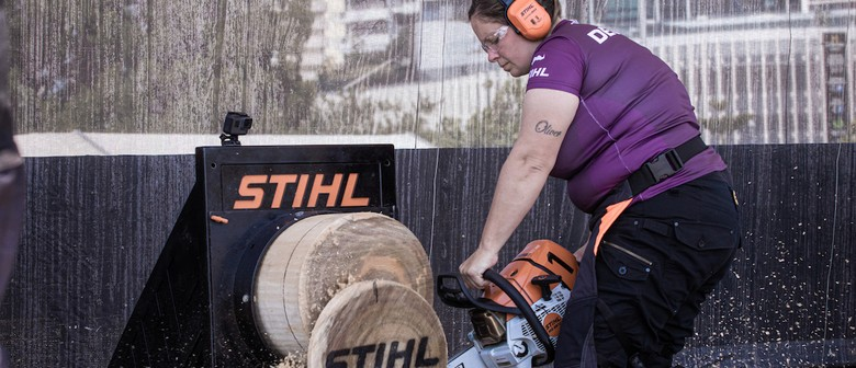 Elite Woodchoppers Prepare to Go Axe-to-axe at Stihl Timbers