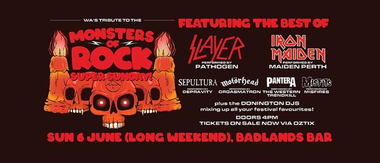 Monsters of Rock - WA's Tribute Salute - Super Sunday