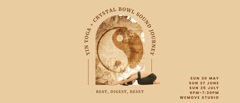 Yin Yoga & Crystal Bowl Sound Journey