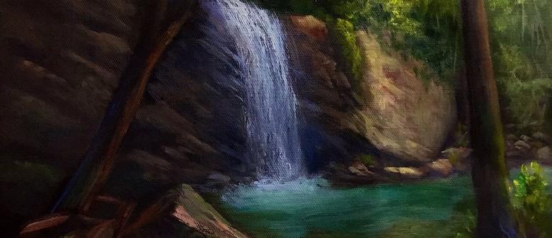Painting waterfalls in oil