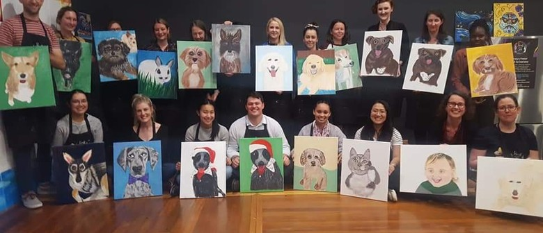 Paint and Sip: How to show your Fur-real Love